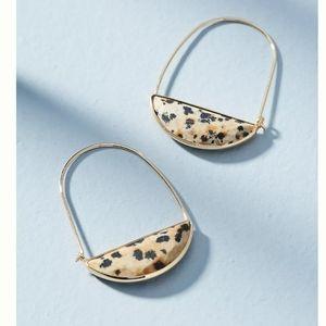 Anthropologie Crescent Hoop Earrings NWT